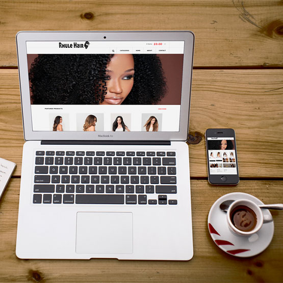 Rhule Hair Web Design